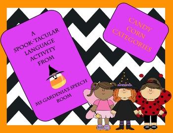 Halloween Candy Corn Categories Activity