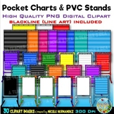 Pocket Charts Clip Art  for Commercial Use