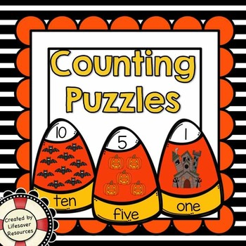 Halloween Counting 1-10 Puzzles