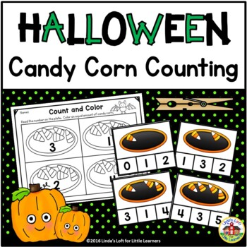 Halloween Candy Corn Count and Clip Cards and Printables 0-10 | TpT