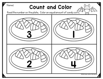 Halloween Candy Corn Count and Clip Cards and Printables 0-10