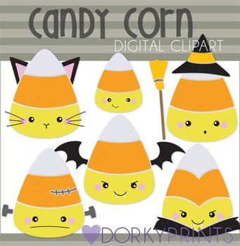 Halloween Candy Corn Digital Clip Art