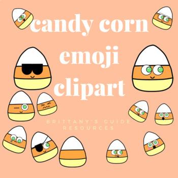 Halloween Candy Corn Emoji Clip Art