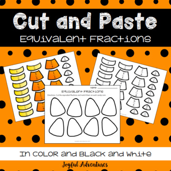 Halloween Candy Corn Equivalent Fractions