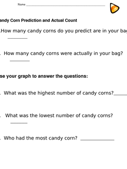 Halloween Candy Corn Graphing