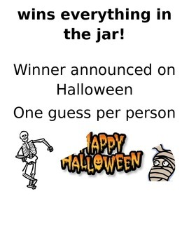 Halloween Candy Corn Guessing Contest