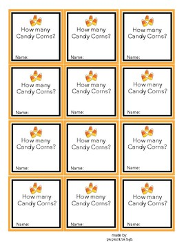 Halloween Candy Corn Guessing Game Printable Tags By Cindy Barry
