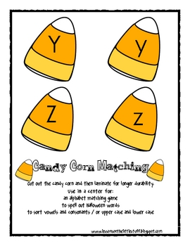 Halloween: Candy Corn Letter Flash Cards
