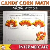 Halloween Candy Corn Math Multiplication and Division