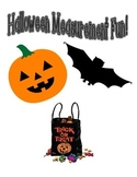 Halloween Candy Corn Non-Standard Measurement