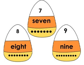 Halloween Candy Corn Number match up!