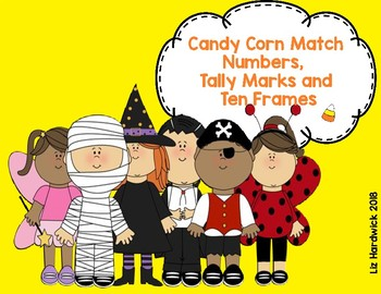 Halloween Candy Corn Numbers, Tally Marks and Ten Frames