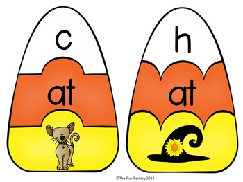 Halloween Literacy Center Activities  ~ Onset and Rime {Word Families}