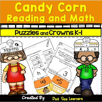 Halloween Candy Corn Onset and Rime Puzzles and Crowns