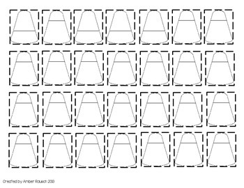 Autumn Candy Corn Printable Patterning Lesson