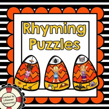 Halloween Rhyming Puzzles