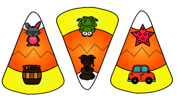 Halloween Candy Corn Rhyming Puzzles