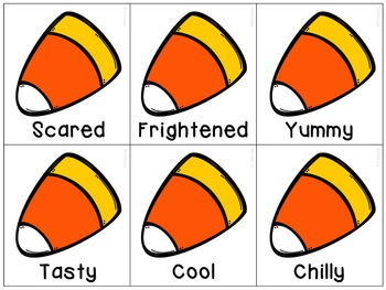 Halloween Candy Corn Synonyms for Speech Therapy