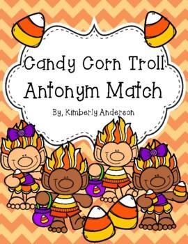 Halloween: Candy Corn Trolls Antonyms Match