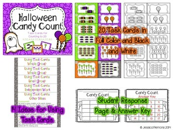 Halloween Task Cards: Candy Count