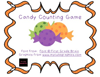 Halloween Candy Counting Game