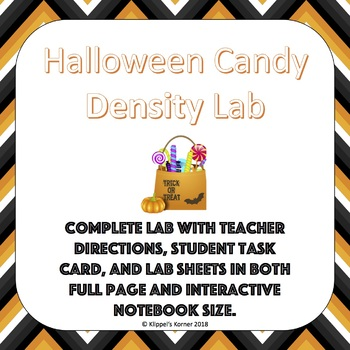 Halloween Candy Density Lab