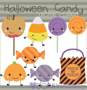 Halloween Candy Digital Clip Art