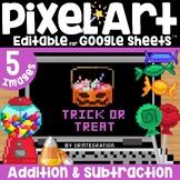 Halloween Candy Digital Pixel Art Magic Reveal ADDITION &