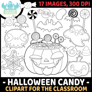 Halloween Candy Digital Stamps, Instant Download Vector Art, Commercial Use Clip