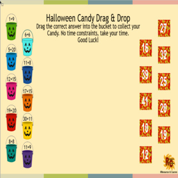 Halloween Candy Drag & Drop Free Interactive