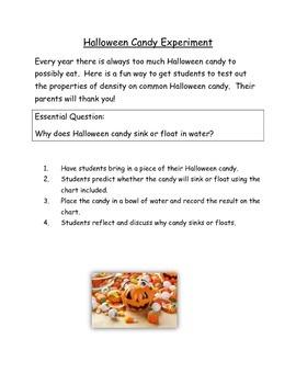 Halloween Candy Experiement