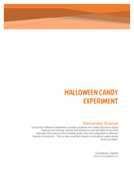 Halloween Candy Experiment