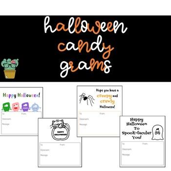 Halloween Candy Grams - Version 1