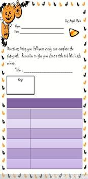 Halloween Candy Graphing Center---- Math Common Core