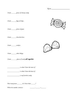Halloween Candy Graphing Homework