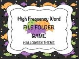 Halloween Candy HFW File Folder Game
