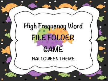 Halloween Candy HFW File Folder Game