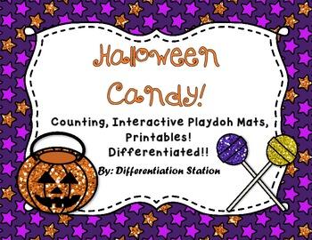 Interactive Math Play Dough Mats: Halloween