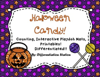 Interactive Math Play Dough Mats: Halloween