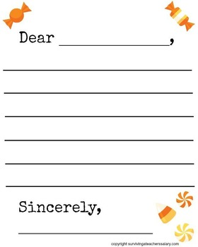 Halloween Candy Letter Template