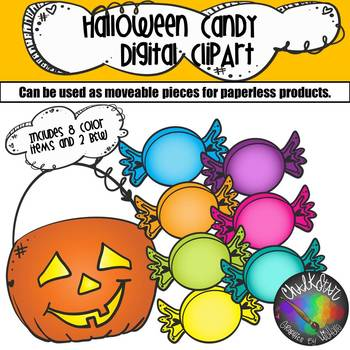 Halloween Candy Moveable PNG Graphics
