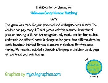 Halloween Candy Number Matching Games