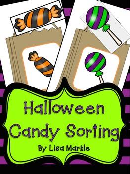 Halloween Candy Pattern Sorting Math Center Activity for Preschool