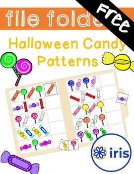 Halloween Candy Patterns File Folder