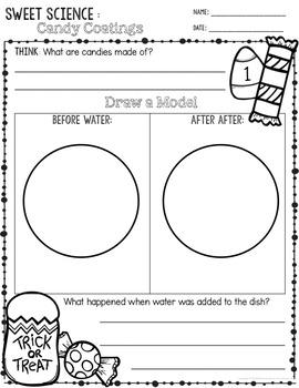 Holiday Candy Science  - Elementary STEM Activity - Grade K - 3 - Observation