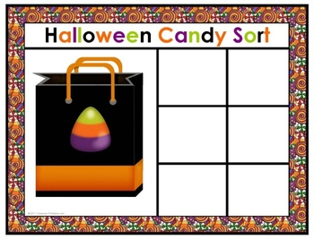 Halloween Candy Sorting Mats
