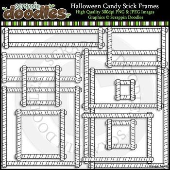 Halloween Candy Stick Frames