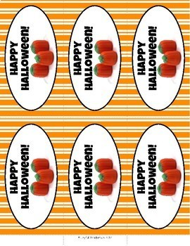 Halloween Candy Tags