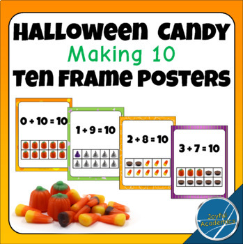 Halloween Candy Making 10 Ten Frame Posters