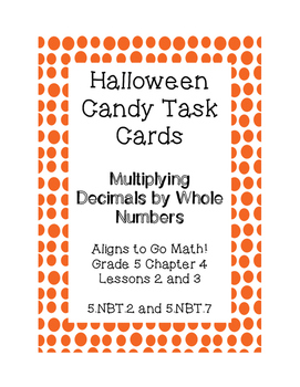 Halloween Candy Word Problems- Multiplying Decimals by Who